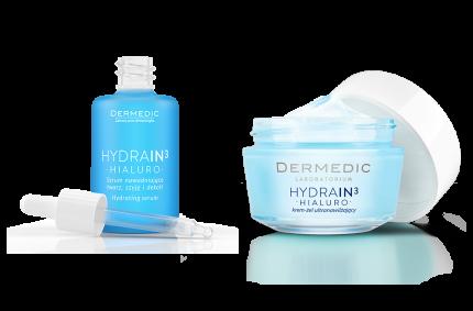 Zestaw produktów Hydrain H3, Klient: DERMEDIC
