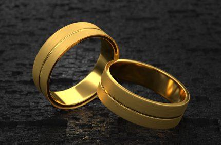 Obrączki złote:projekt własny
