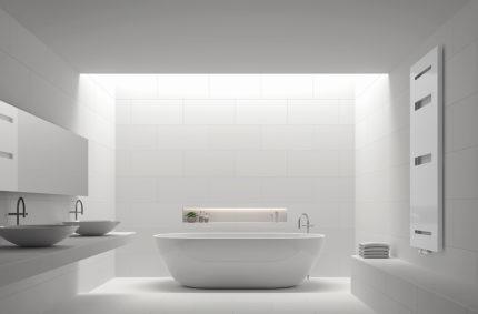 Grzejnik aranżacja łazienkowa, Klient: VARIO TERM