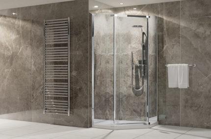 Aranżacja łazienkowa, Klient: NEW TRENDY